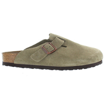 Birkenstock Boston - Taupe Suede Slip-On Footbed Clog