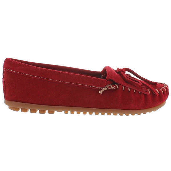 Minnetonka Kilty - Red Suede Moccasin