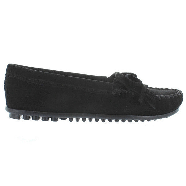 Minnetonka Kilty - Black Suede Moccasin