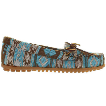 Minnetonka Baja - Turquoise Multi Printed Fabric Moccasin Loafer