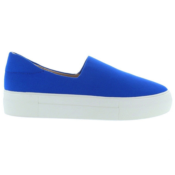 J Slides Ariana - Blue Platform Slip-On Sneaker
