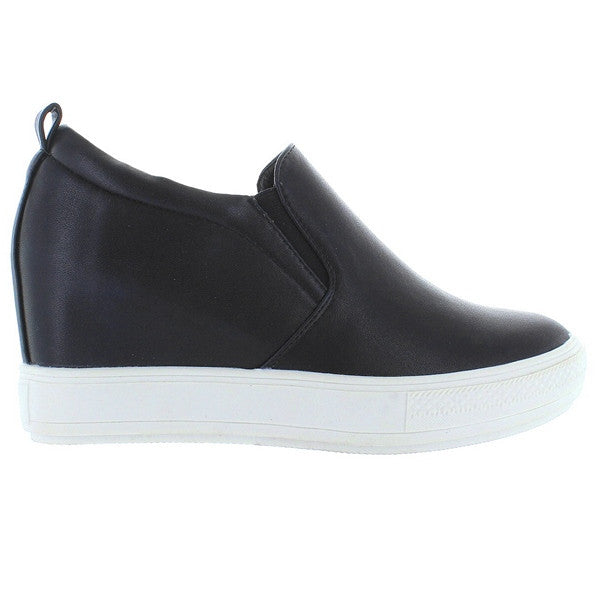 Wanted Pocono - Black Slip-On Wedge Sneaker