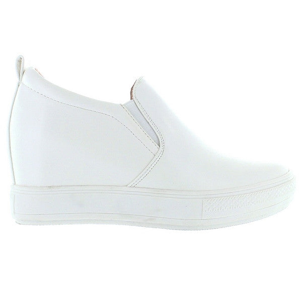Wanted Pocono - Ivory Slip-On Wedge Sneaker