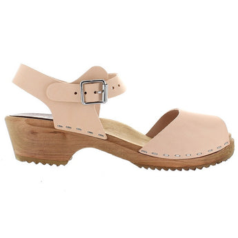 MIA Anja - Natural Leather Low Mary Jane Clog
