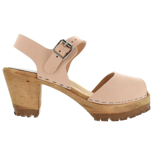 MIA Greta - Natural Leather High Mary Jane Clog