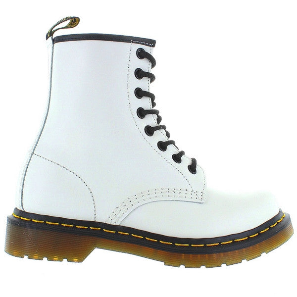 Dr Martens 1460W - 8-Eye White Smooth Leather Lace-Up Boot