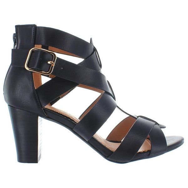Restricted Adora - Black Strappy High-Heel Sandal