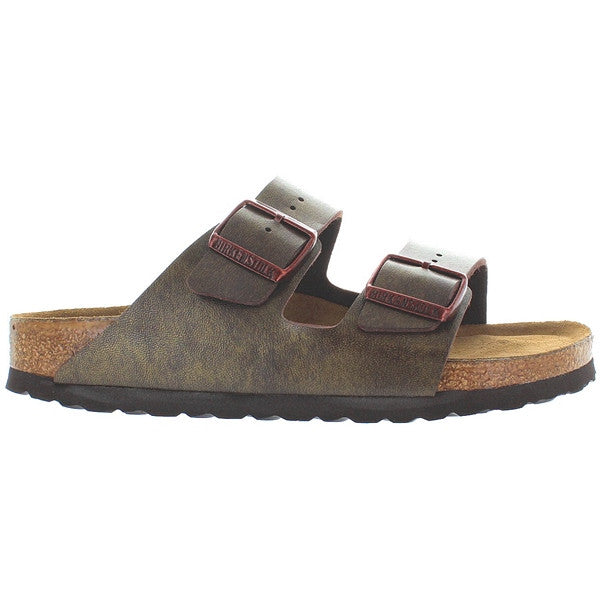 Birkenstock Arizona - Golden Brown Leather Dual Buckle Slip-On Footbed Sandal