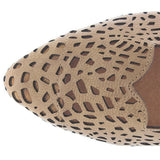 Extra Fine Sugar Ruby - Tan Laser Cut Flat Slide