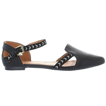 Extra Fine Sugar Oz - Black/Tribal Print Mary Jane Flat