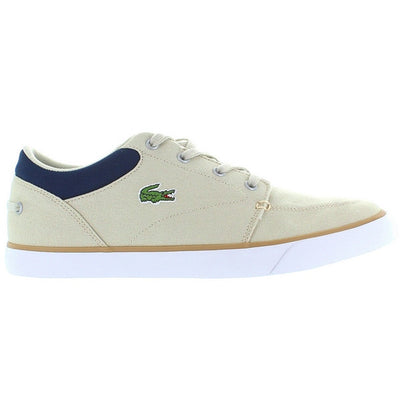 Lacoste Bayliss - Natural/Navy Canvas Sneaker