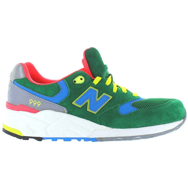 New Balance 999 Elite Pinball - Green/Grey Suede/Mesh Running Sneaker