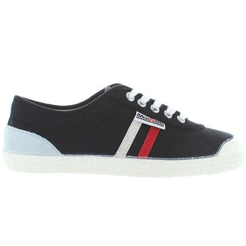 Backyard Retro Tivoli - Black Canvas Stripe Sneaker