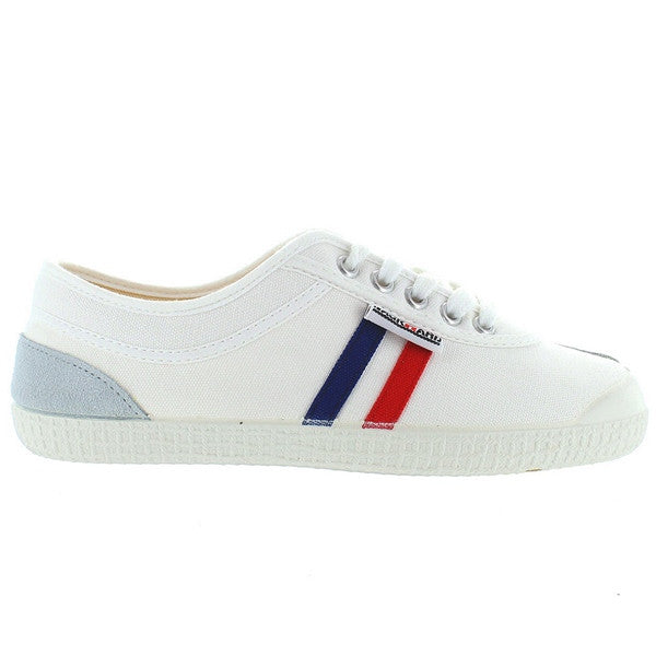 Backyard Retro Tivoli - White Canvas Stripe Sneaker