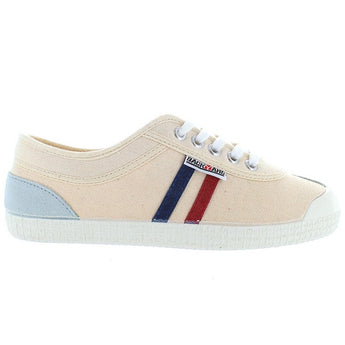 Backyard Retro Tivoli - Cream Canvas Stripe Sneaker