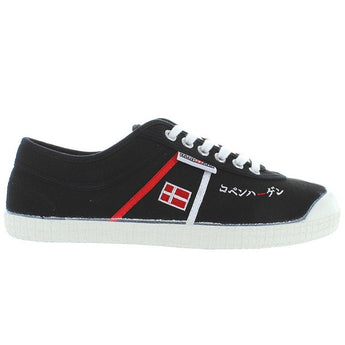 Backyard Special Edition Dannebrog - Black Canvas Stripe Sneaker