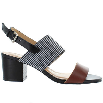 Chelsea Crew Elle - Tan/Black Leather Sling-Back Sandal