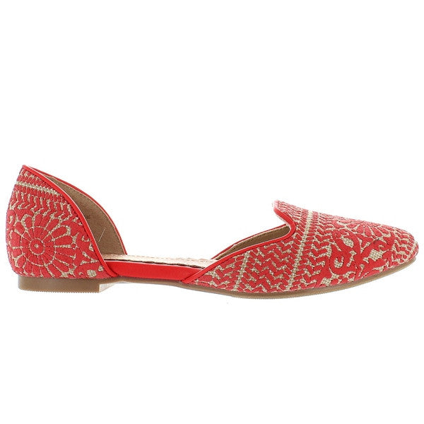 Restricted Glory - Red/Tan Printed Textile Flat