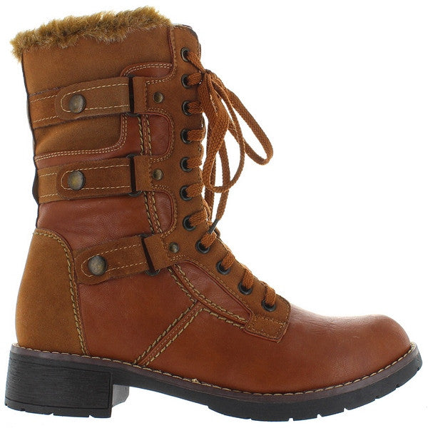 Wanted Alpine - Tan Pile-Lined Combat Boot