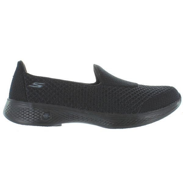 Skechers GOwalk 4 Kindle - Black/Black Mesh Slip-On Walking Sneaker