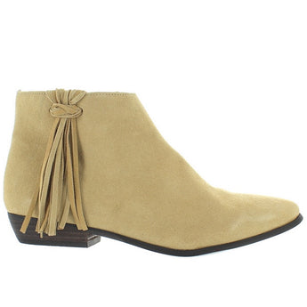 Coconuts Cody - Natural Suede Side Fringe Bootie CODY-NAT SUEDE
