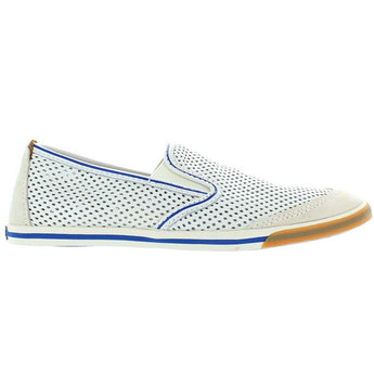 Clarks Mego Slip - White Leather Athleisure Pull-On