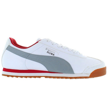 Puma Roma - White/Limestone Red Leather Low-top Sneaker