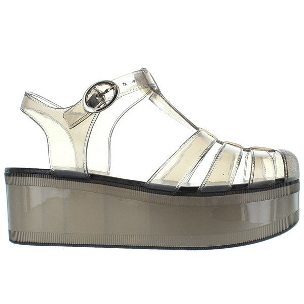 Wanted Jellypop - Smoke Jelly Platform Sandal