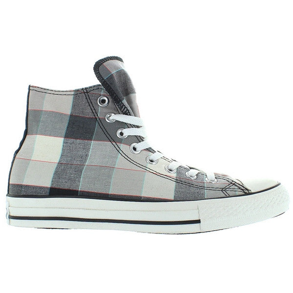 Converse All-Star Chuck Taylor Buffalo Hi - Black/Grey Plaid Canvas High Top Sneaker