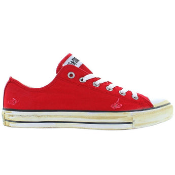 Converse All-Star Chuck Taylor Rummage Ox - Red Frayed Canvas Low Top Sneaker