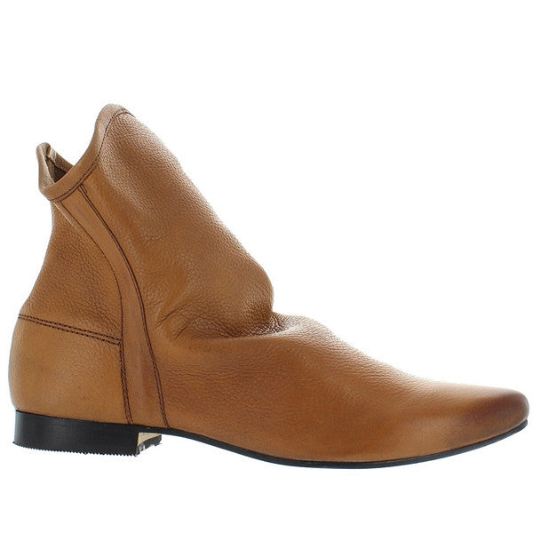 Coconuts Talulah - Tan Leather Pull-On Slouchy Flat Bootie