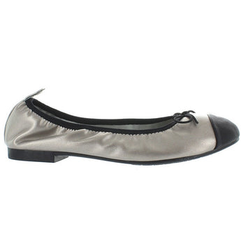Restricted Chocolate - Pewter/Black Elastic Ballet Flat