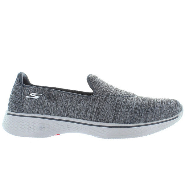 Skechers GOwalk 4 Kindle - Grey Heather Jersey Slip-On Walking Sneaker