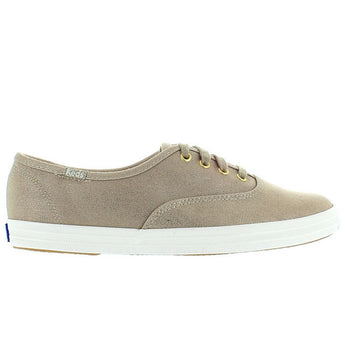 Keds Champion Ox - Metallic Gold Canvas Lace-Up Sneaker