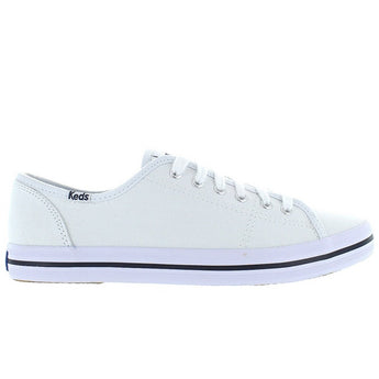 Keds Kickstart - White Canvas Lace-Up Sneaker