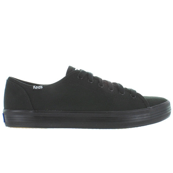 Keds Kickstart - Black Canvas Lace-Up Sneaker