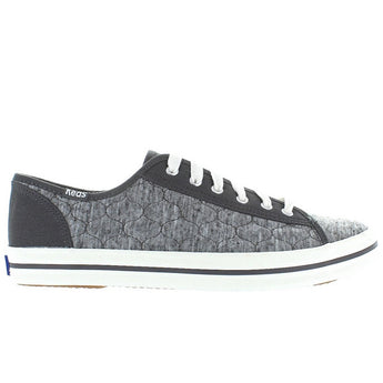Keds Kickstart - Charcoal Quilted Jersey Lace-Up Sneaker