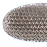 Wanted Boca - Tan Metallic Woven Slip-On Sneaker