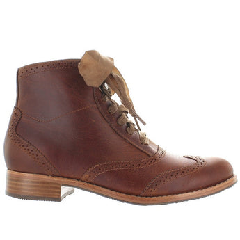 Sebago Claremont - Cognac Leather Brogue Bootie