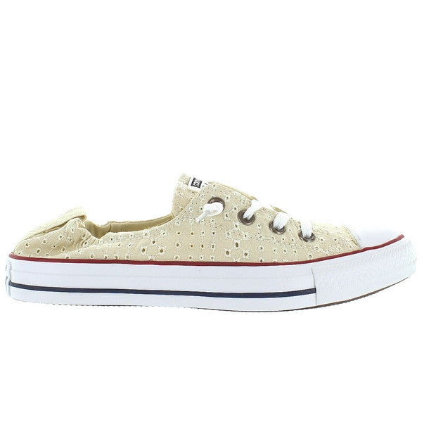 Converse All-Star Chuck Taylor Shoreline Slip - Off White Canvas Eyelet Cut-Out Slip-On Sneaker