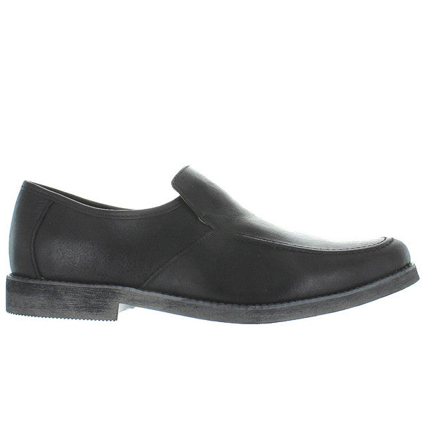 Hush Puppies Reminisce - Black Leather Plain Loafer