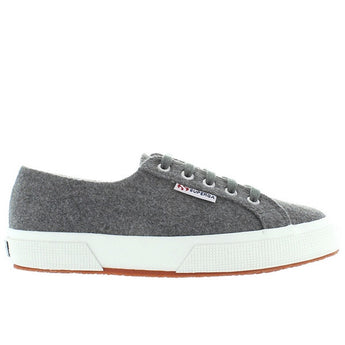Superga 2750 - Grey Poly Wool Lace-Up Sneaker