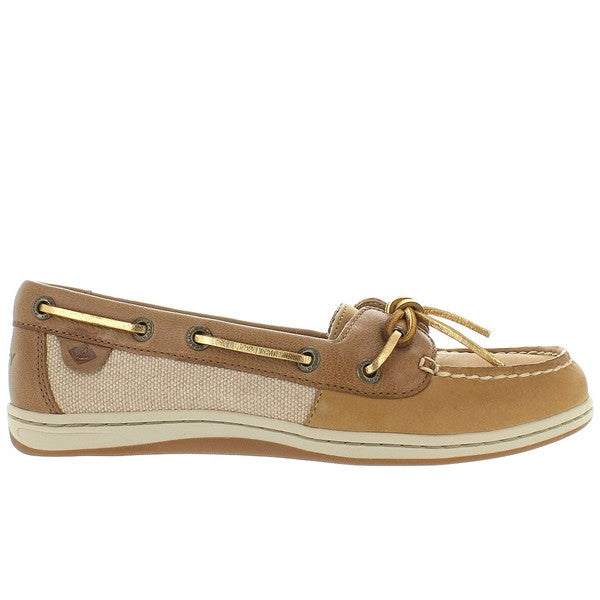 Sperry Top-Sider Barrelfish - Linen/Gold/Tan Leather/Linen Boat Shoe