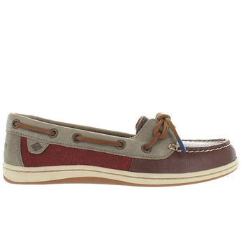 Sperry Top-Sider Barrelfish - Rust/Grey/Brown Leather/Linen Boat Shoe