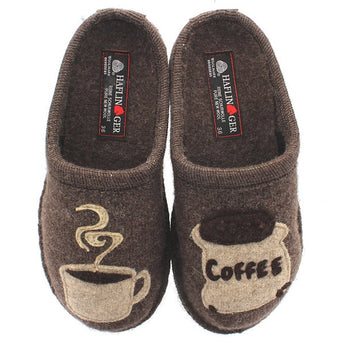 Haflinger Coffee - Earth Woolen Slipper