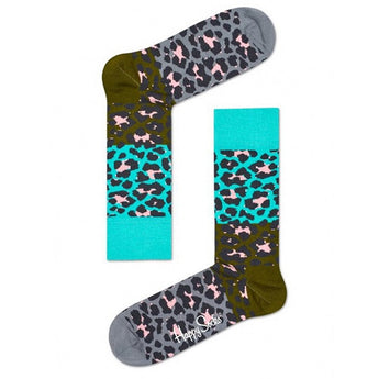 Happy Socks - Women's Block Leopard Sock