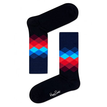 Happy Socks - Unisex Faded Diamond Sock