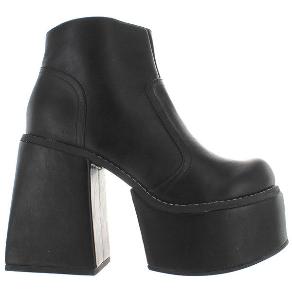 YRU Vida - Black High Platform/Chunky High Heel Bootie