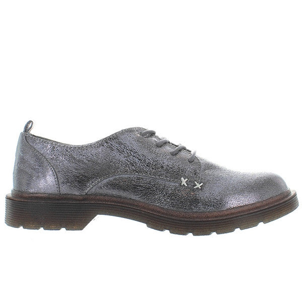 Coolway Claire - Crackled Pewter Lug Sole Oxford