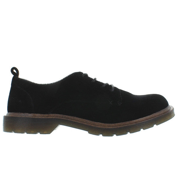 Coolway Claire - Black Velvet Lug Sole Oxford CLAIRE-BLK